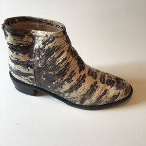 Loeffler Randall Snakeskin Leather Bootie